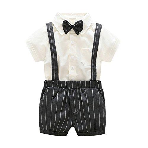 e4fbfec100588 La Cabina Bébé Garçon Boy Vêtement Eté et Automne Ensemble de Costume  Formel en 3 PCS
