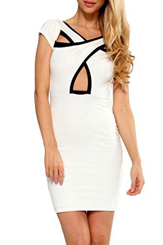 E-Girl Deman Weiß SY21422 figurbetontes kleid Weiß