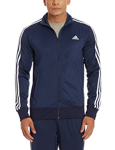 adidas Herren Jacke ESS 3S TTOP, Dunkelblau, XL, 4056561887310 (Ärmelloses 3-streifen Adidas)