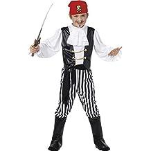 Smiffy's 25761M - Disfraz de pirata para niño, talla M (7 - 9 años), 130-143 cm