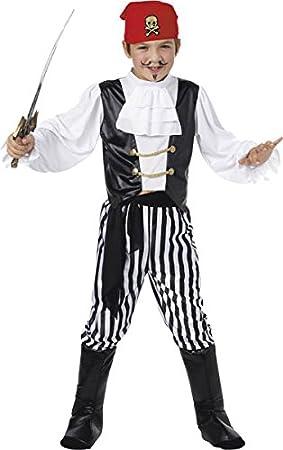 amazon costume. smiffyu0027s childrenu0027s pirate costume shirt trousers boot covers headscarf belt ages 46 colourblack and white 25761 smiffys amazoncouk toys u0026 amazon m