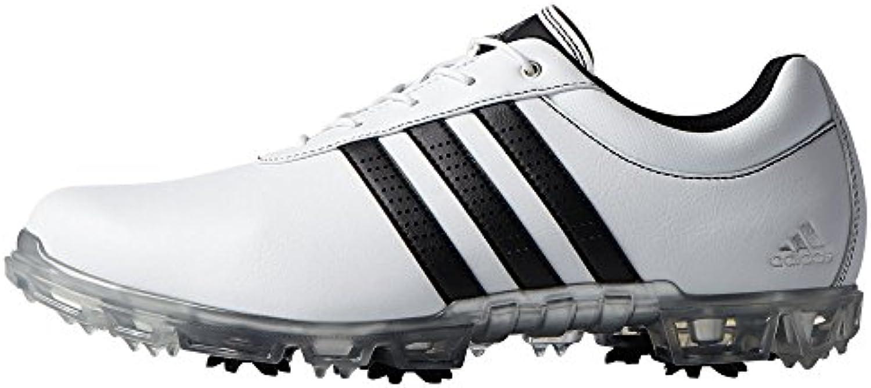 Adidas Adipure Flex WD, Zapatos de Golf para Hombre, Blanco/Negro / Plata, 42 EU