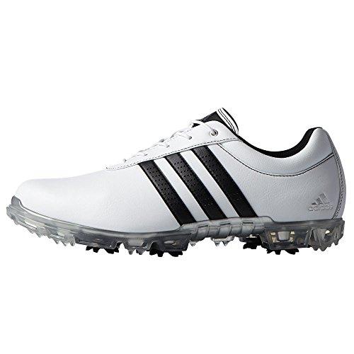adidas Herren Adipure Flex WD Golfschuhe, Weiß (White/core Black/Silver Metallic), 45 1/3 EU