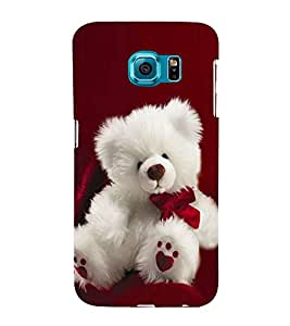 Fuson Premium Back Case Cover Cute Teddy With blue Background Degined For Samsung Galaxy S6 Edge+ G928::Samsung Galaxy S6 Edge Plus G928F
