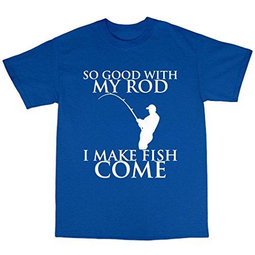 Rude Fishing T-Shirt 100% Baumwolle Königsblau