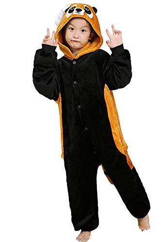 Kinder Pyjamas Tier Rot Panda Overall Flanell Cosplay -
