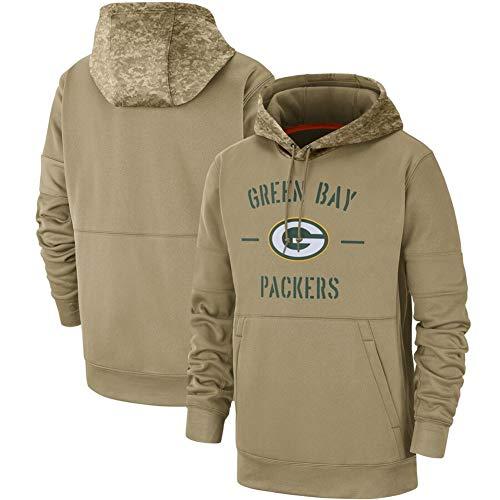 ATI-HSKJ Männer Kapuzenpullover Green Bay Packers Jacke American Football Sport American Football-Trikots Pullover Casual Langarmshirts Pullover,175~180CM