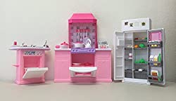 Gloria Barbie Size Dollhouse Furniture, Kitchen Set