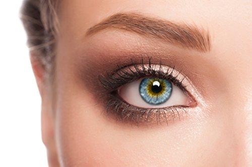 ELFENWALD farbige Kontaktlinsen, SUPREME BLAU, stark deckend, besonders natürlicher Look, maximaler Tragekomfort, ohne Stärke, 1 Paar weiche Farblinsen, inkl. Behälter und Anleitung