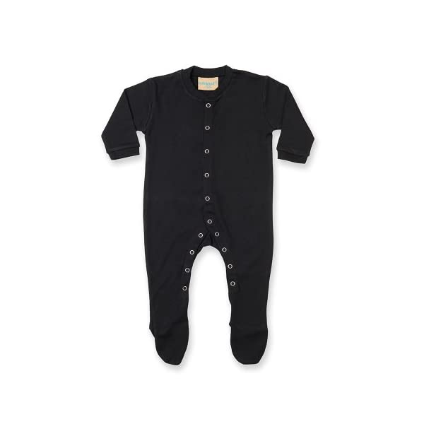 Larkwood - Pijama de manga larga liso unisex para bebé (Recién Nacido/Azul) 1