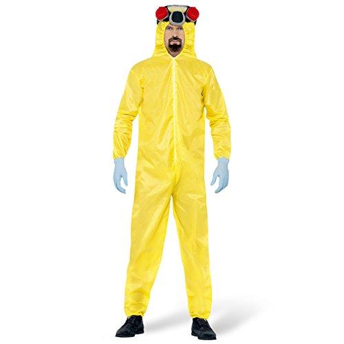 Breaking Kostüm Bad Heisenberg (Walter White Schutzanzug Lab Overall Filmkostüm XL 56/58 Heisenberg Labor Jumpsuit Breaking Bad Kostüm Karneval Kostüme Herren Film Faschingskostüm Gelber)