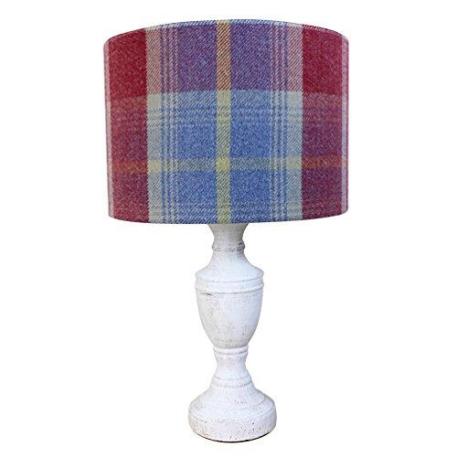 Balmoral Ruby Rot Tartan Check Drum Lampenschirm 20cm 30cm 40cm Lampenschirm, 20 cm Diameter x 18 cm High Table/Standard Lamp (Rot Lampenschirm Drum)