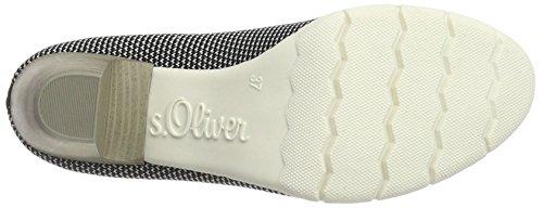 s.Oliver 22408, Scarpe con Tacco Donna Bianco (WHITE/BLACK 103)
