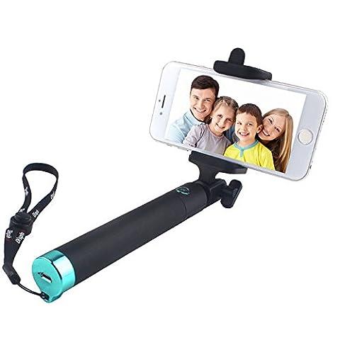 Bluetooth Perches Selfie,Yarrashop® Extensible Selfie Sticks Sans Fil Monopode Avec Télécomman de pour Apple iPhone 7/7 plus/ 6/6 Plus/ 6s/6s plus/5/4, iPod, Samsung Galaxy S8/S7/S6/S5/S4/S3, Note 4/3/2 et la plupart des autres smartphones