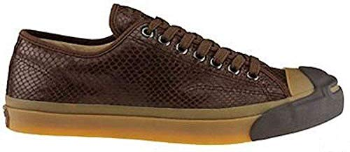 aa5332765f2e63 Converse x John Varvatos Jack Purcell Vintage Brown Leather Snake Embossed  Ox 1W226 (Big Kid 4.5 Women s 6)