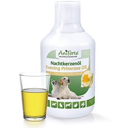 AniForte natürliches Nachtkerzenöl 500 ml- Naturprodukt für Hunde und Pferde -
