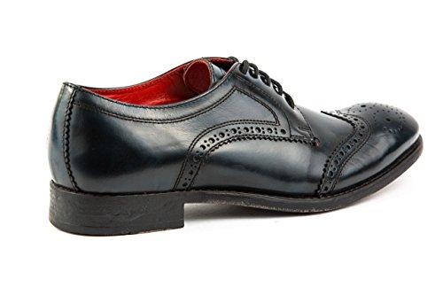 Base London Herren Budapester Business Schuhe Gr. 43 Blau