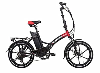 Electric bicycles QUADRINI, folding electric bicycles, SHIMANO, Rear motor 36V 350W 8FUN brand, Battery lithium-ion 36V10Ah (360Wh)