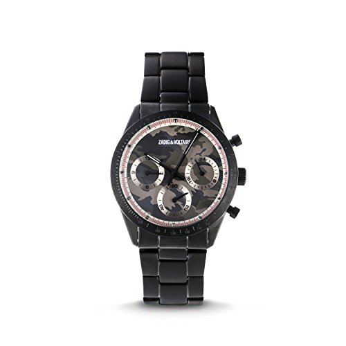 Zadig & Voltaire Unisex analogico classico orologio al quarzo con cinturino in acciaio ZVM126