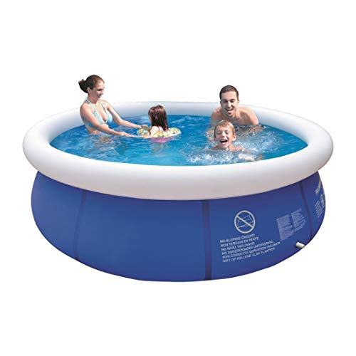 Invero® Family Children's Adults Outdoor Garden Fast Prompt Set Swimming 8ft Pool - Water Capacity 2074 Litres 80% Filled Dia W240 x 63 cm