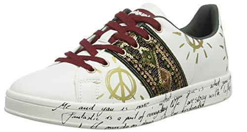 Desigual Damen Shoes Cosmic Exotic White Sneaker, Weiß 1000, 37 EU