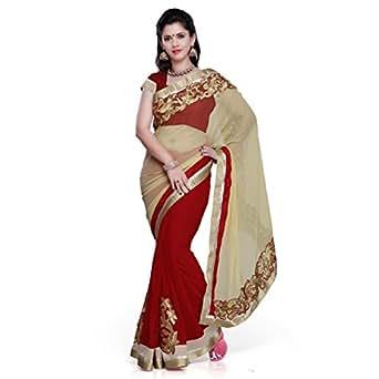 Janasya Chiffon Saree (Jne0671_Beige)