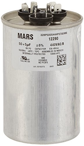 Mars–Motoren & Armatures 1229050+ 5UF MFD X 440VAC genteq Ersatz Dual Kondensator (440v Motor)