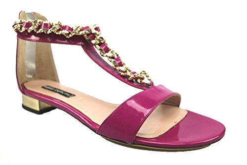 Scarpe donna MARIO CERRUTI 39 sandali fucsia pelle lucida AS919