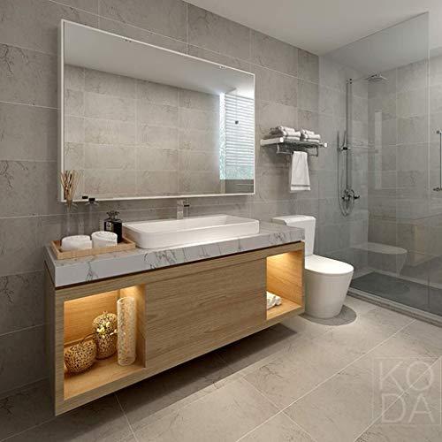 BJYX Moderno y Simple baño montado en la Pared Negro Espejo con Marco, Espejo de baño, Maquillaje...