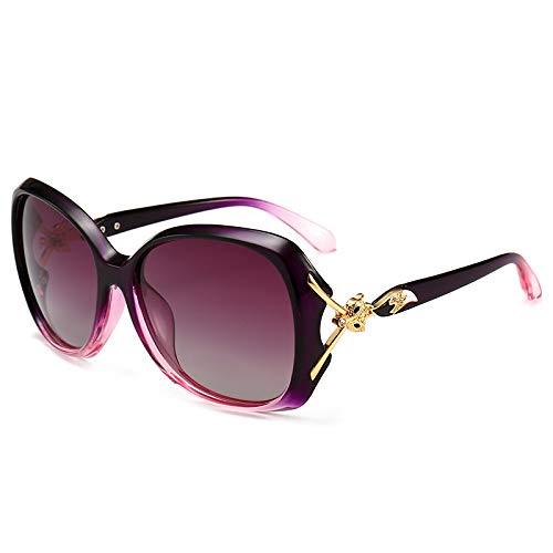Yangjing-hl Big Box Sonnenbrille Damen Fashion Trend Wild Fox Sonnenbrille, violett, Einheitsgröße