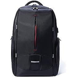 KALIDI Mochila, Laptop Mochilas Backpack para Ordenador Portátiles ajusta hasta 17,3 Pulgadas, Mochilas Impermeables de Escuela de Negocios, negro