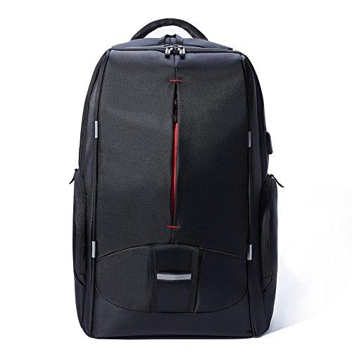 Imagen de kalidi , laptop  backpack para ordenador portátiles ajusta hasta 17,3 pulgadas,  impermeables de escuela de negocios, negro