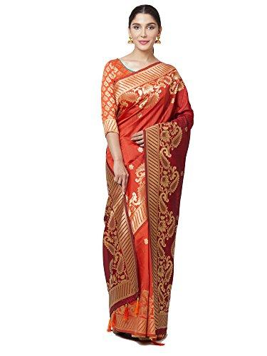 SareeShop Women's Kanjivaram Cotton Silk saree for women latest design 2018 with...