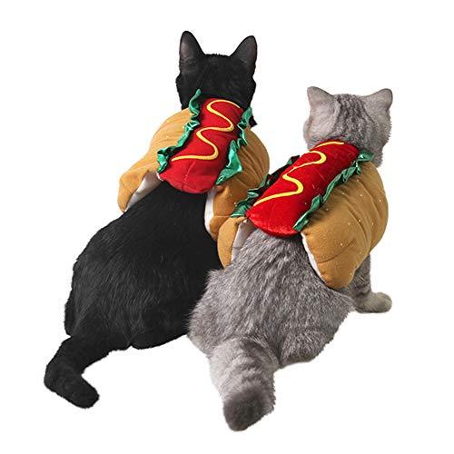 litty089 Warme Karneval Lustige Hamburger Modeling Haustier Katze Hund Mantel Kleidung Kleidung Kleidung Kleidung für Weihnachten Party Cosplay Kostüm, Fleece, (Wirklich Warme Kostüm)
