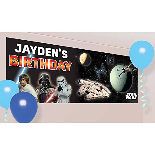 Amscan International Banner 9903087 Giant-printedstar Wars GNT Pers Ban