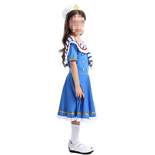 kMOoz Halloween Kostüm,Outfit Für Halloween Fasching Karneval Halloween Cosplay Horror Kostüm,Halloween Kinder Kleiner Royal Navy Montierte Einen Tapferen Matrosenanzug