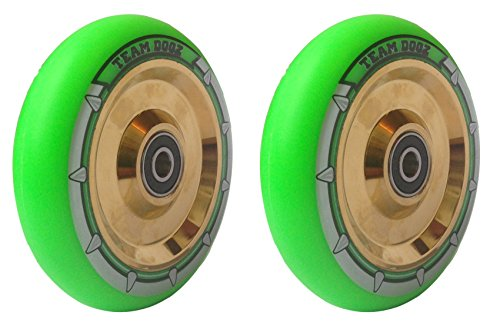 pair-team-dogz-100mm-110mm-neochrome-rainbow-gold-ufo-hollow-core-scooter-wheels-abec11-bearings-als
