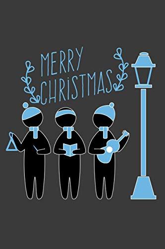 Merry Christmas: Liniertes DinA 5 Notizbuch für Musikerinnen und Musiker Musik Notizheft