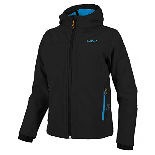 CMP Softshell Paolo, Farbe:Nero-Cyano, Größe:128 (Outdoor Soft-shell)
