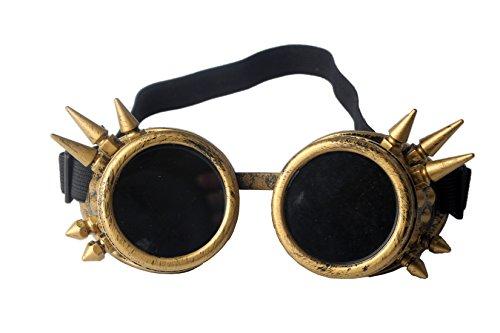 AFUT Schutzbrille Steampunk Schweißen Fotos Gelbes Rahmen Schwarze Linse