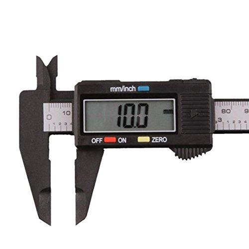 ESAILQ 150mm / 6inch LCD Digital Elektronisches Carbon Fiber Vernier Messschieber Micrometer