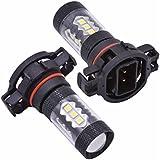 Bababy 2pcs H16 / 5202 80W / 16LED 3030 Luz de niebla del coche Luz brillante 800LM HeadLamp corriente Negro 55mm