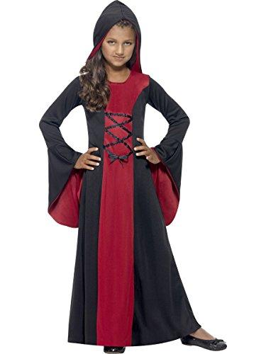 Edle Vampirin Halloween Kinderkostüm rot schwarz