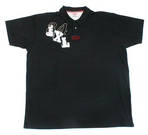 JeansXL 662 Poloshirt Schwarz Große Größen 3XL-8XL Schwarz