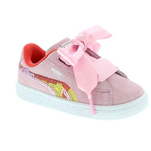 Puma Baby Mädchen Suede Heart Trailblazer SQN IN Sneaker, Pink (Pale Pink-Hibiscus White 1), 25 EU