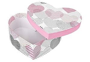 Idena 30215 - Caja de Regalo, día de San Valentín, Boda, cumpleaños, diseño de corazón, Color Rojo