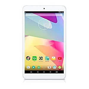 """iRULU eXpro 1S Tablet (X1S) 8"""" Google Android 5.1 KitKat Quad Core HD Schermo, 16GB - Fronte Bianca, Plastico"""