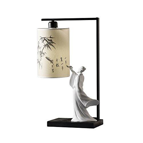 DGEG Tischlampe kreative minimalistische moderne Zen Retro-Beleuchtung für Schlafzimmer/Bett / Wohnzimmer/Studie (Alarm-zen)