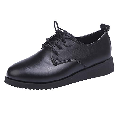 LILIHOT British College Wind Schnürschuhe Retro Scrub Flat Casual Women Single Schuhe Walkingschuhe Atmungsaktive Weiche Damenschuhe Fitness Schuhe Krankenschwester Schuhe -