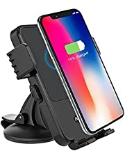 Acekool Wireless Car Charger for Samsung Galaxy S8/S7/S7 Edge, Note 8/5, 5W Stable Wireless Charging Car Mount Holder for iPhone X/iPhone 8 Plus/iPhone 8 and Any Qi-Enabled Devices